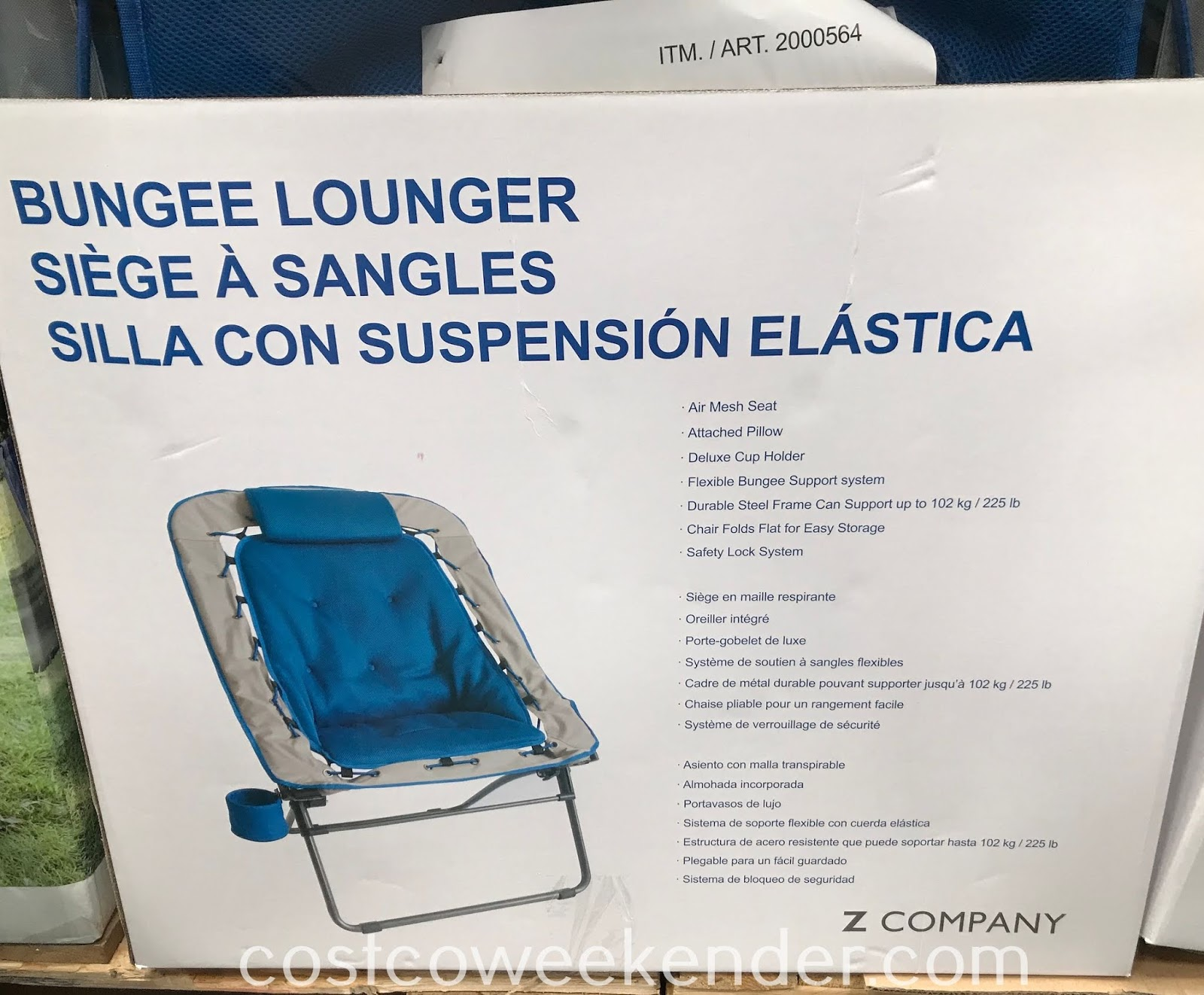 Costco 2000564 - Z Company Bungee Lounger: cool and comfortable