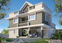 1530 Square Feet 3 Bhk House Plan - Kerala Home Design And