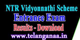 NTR Vidyonnathi Scheme Entrance Exam Results 2016 ntrvidyonnathi.org