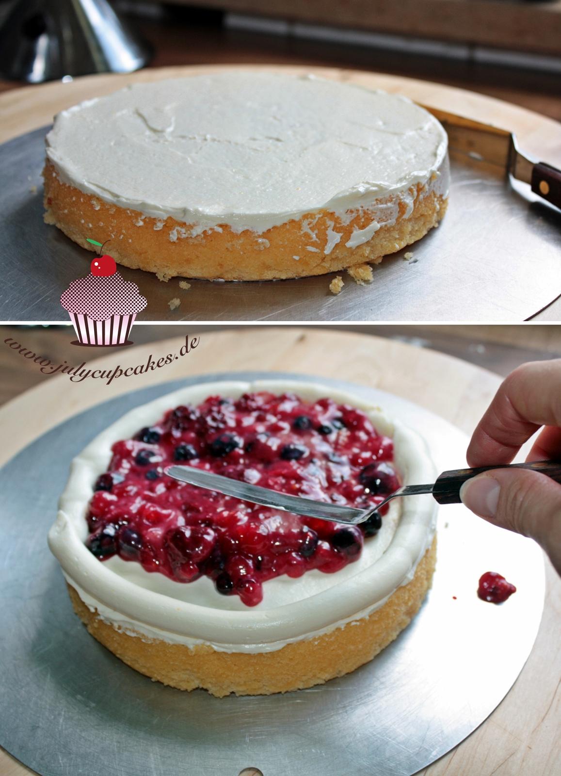 Начинка для торта из ягод