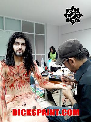 face body painting jesus jakarta