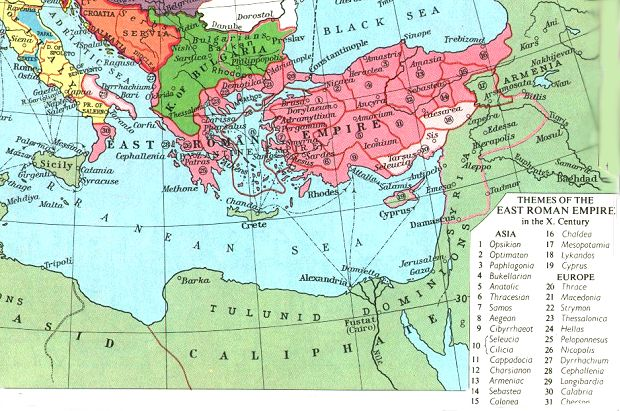 relationship between rome and byzantium
