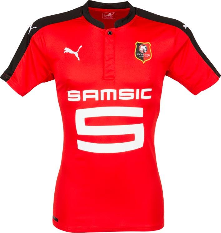 52b2cb534121e ... de 2016 17 do Campeonato Francês de futebol. O modelo titular é  predominantemente vermelho com a gola e faixa nos ombros e mangas na cor  preta.