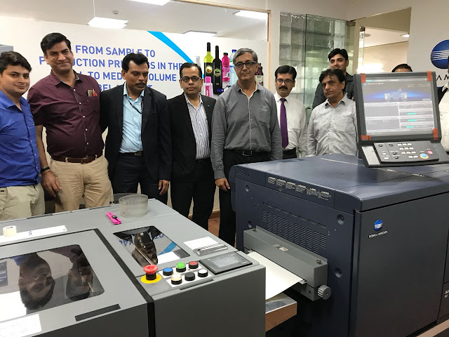 Konica Minolta India makes its first roll-to-roll label printing installation for AccurioLabel 190 at Hora Art in Noida!