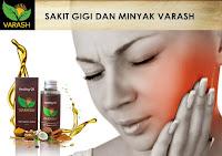 terapi minyak varash classic natural oil untuk sakit gigi