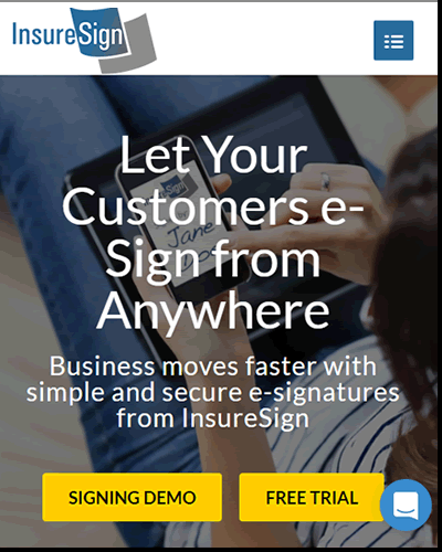 InsureSign helps you get any document signed electronically