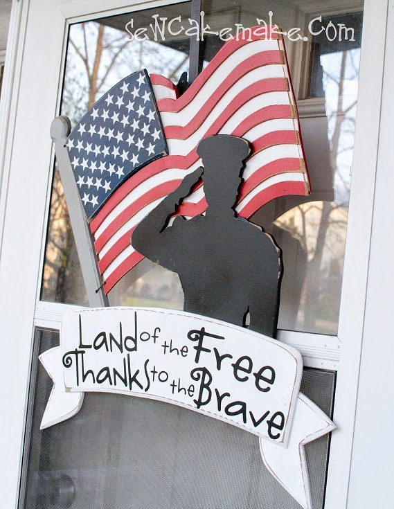 The Sew*er, The Caker, The CopyCat Maker: Patriotic Door Decor