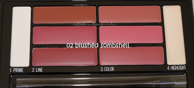 lip contour palette maybelline blushed sombshell
