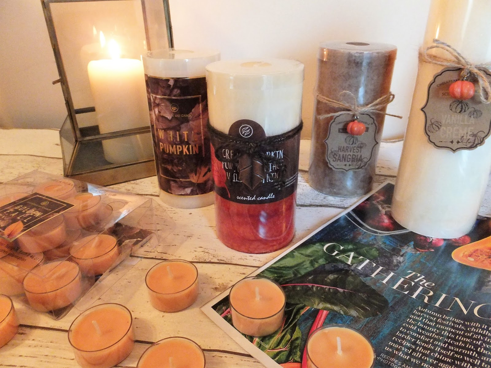 Candles-Tealights-Magazine-Pumpkin-Lantern