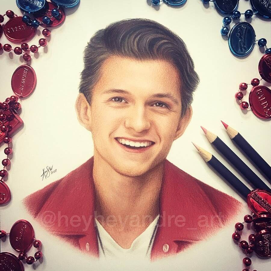 09-Tom-Holland-A-Manguba-Drawings-of-Celebrities-and-the-Zodiac-www-designstack-co