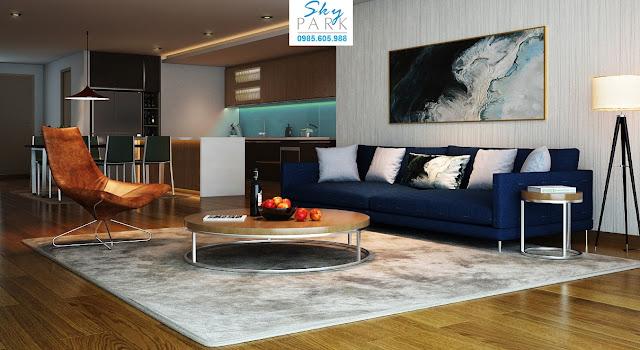 Thiết kế căn hộ A2 dự án Sky Park Residences