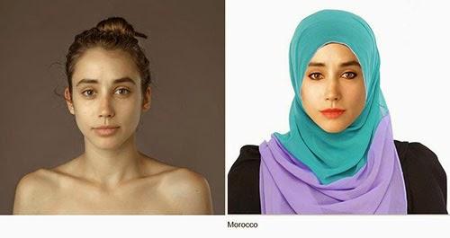 hasil photoshop wanita marocco