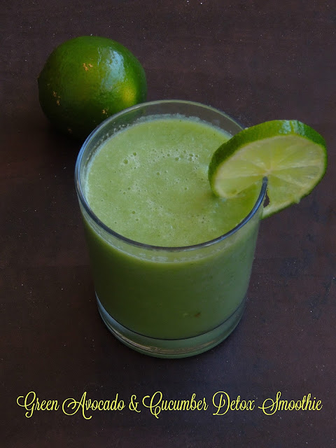 Green Cucumber & Avocado Detox Smoothie