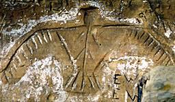 Ojibwe Thunderbird petroglyph