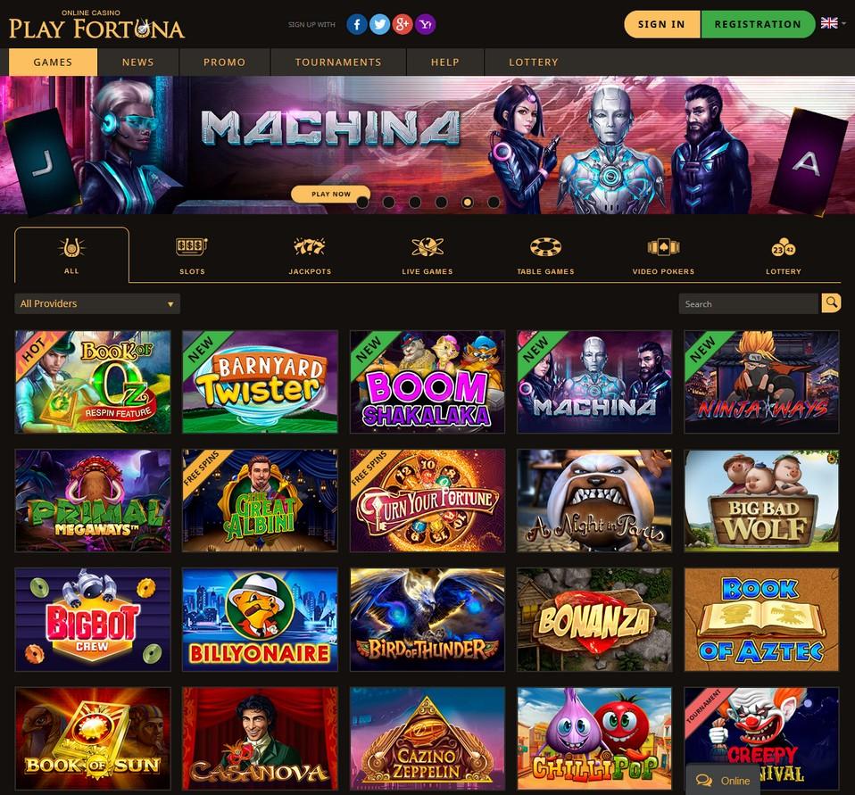 PlayFortuna Screen