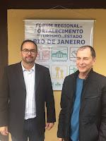 Rafael Canto (diretor de projetos da Secretaria Municipal de Turismo) e Elias Martins (Secretário Municipal de Turismo)
