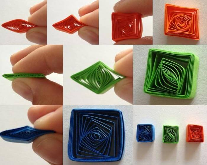 kağıt telkari quilling basit şekiller