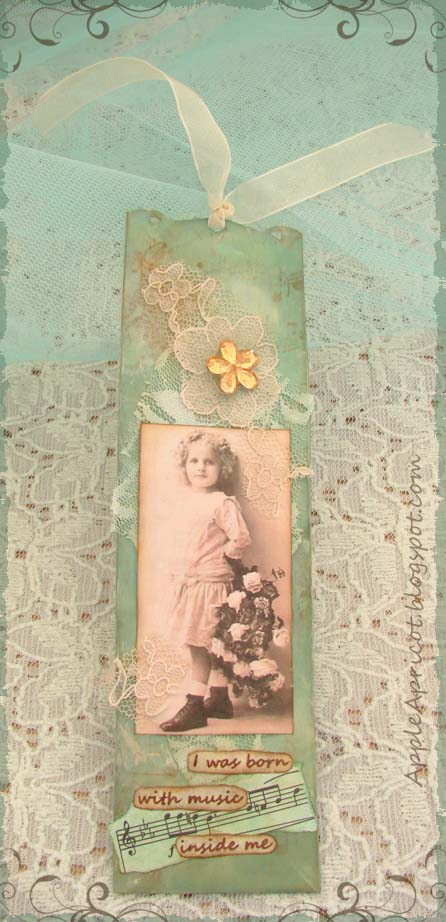 shabby vintage bookmark by AppleApricot