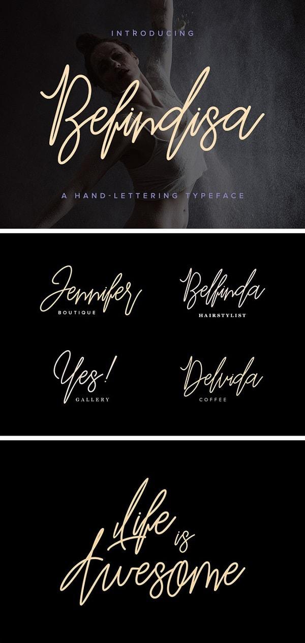 Download Font Edisi Februari 2017 - Befindisa Script Font