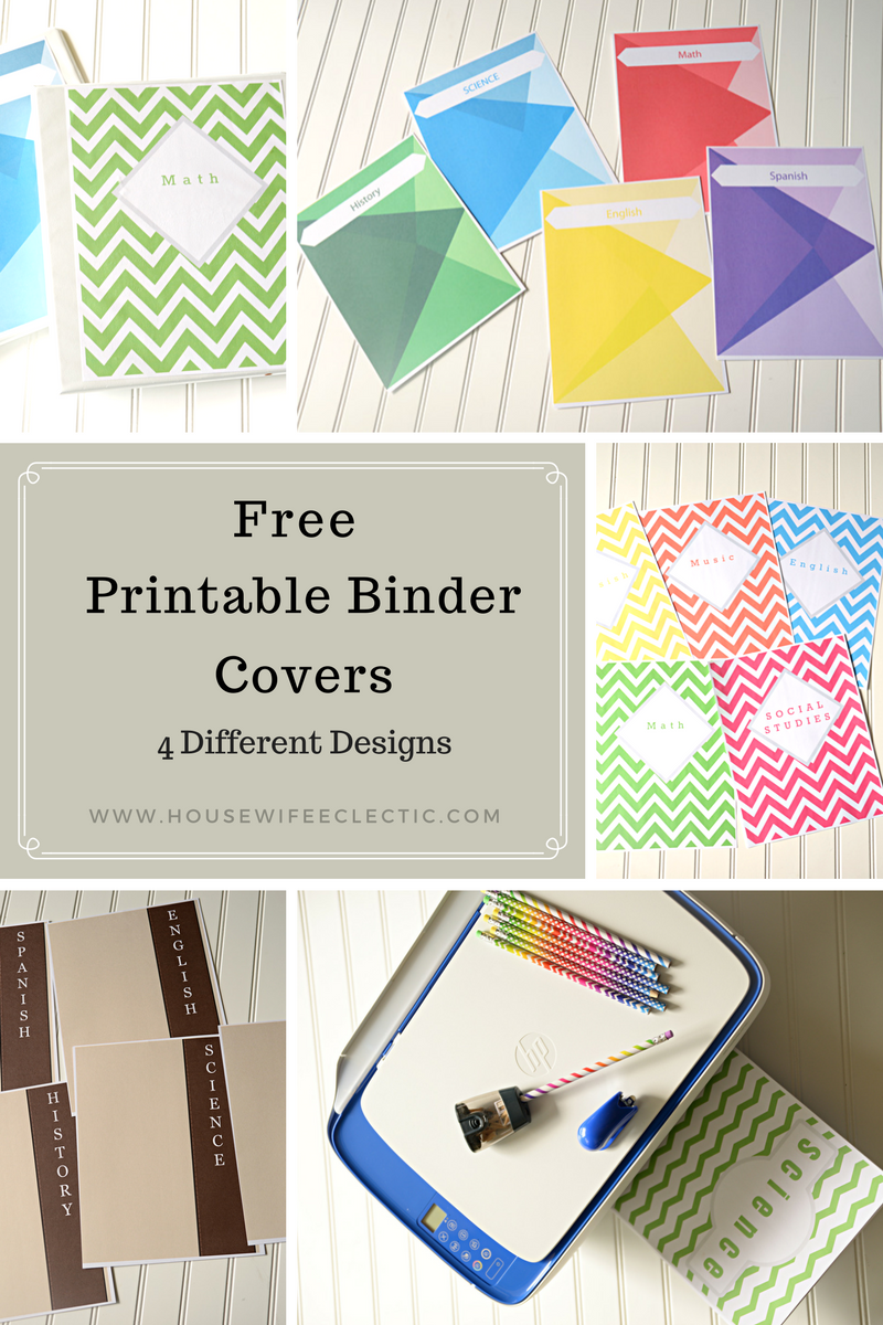picture about Free Binder Printables identified as Cost-free Printable Binder Addresses (4 Option Patterns