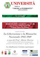 Università della Liberetà XIV lezione