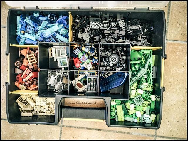 organisation lego enfant transportable caisse outils