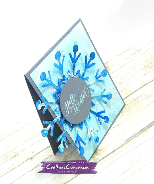 Dana Warren - Kraft Paper Stamps - Crafter's Companion Winter Wonderland - Watercolor Smooshing