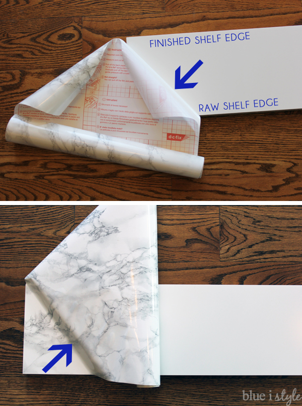 Diy With Style How To Make Faux Marble Shelves For 20 An Ikea