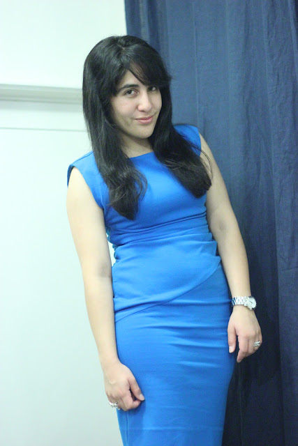DVF Blue Jori Dress