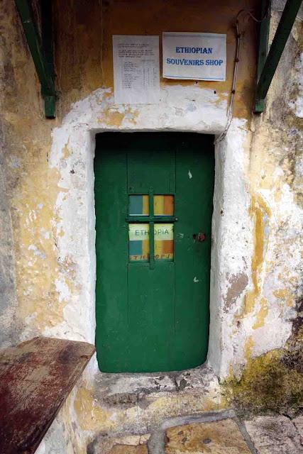 Magasin de souvenirs - L'Ethiopie sur le toit du Saint-Sépulcre