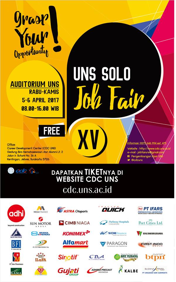 Jadwal Job Fair UNS Solo Bulan April 2017