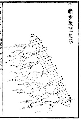 Ming Chinese Explosive Rolling Tree Trunk
