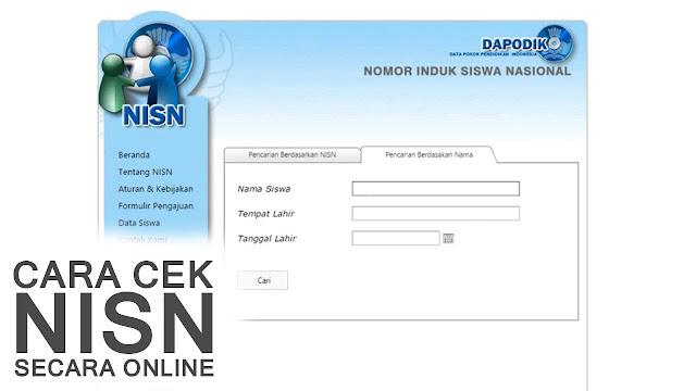 Cara Cek NISN Secara Online Dengan Mudah