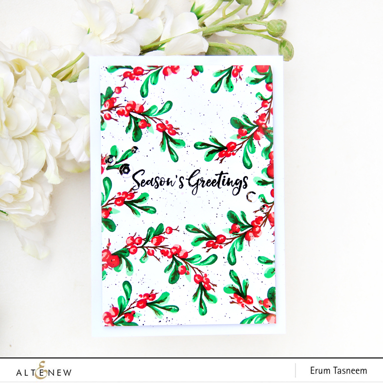 Altenew Bountiful Branch Stamp | Erum Tasneem | @pr0digy0