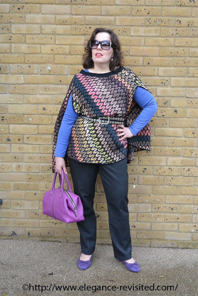 how to style a Missoni poncho