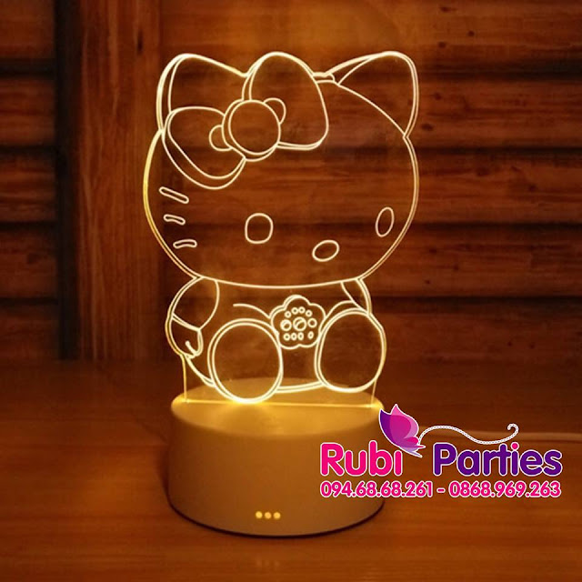 DEN LED 3D HINH MEO HELLO KITTY (726)