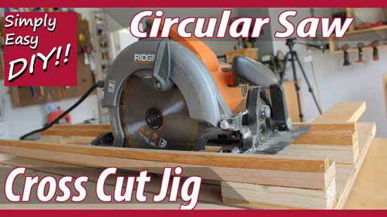How to build a DIY circular saw cross cut jig