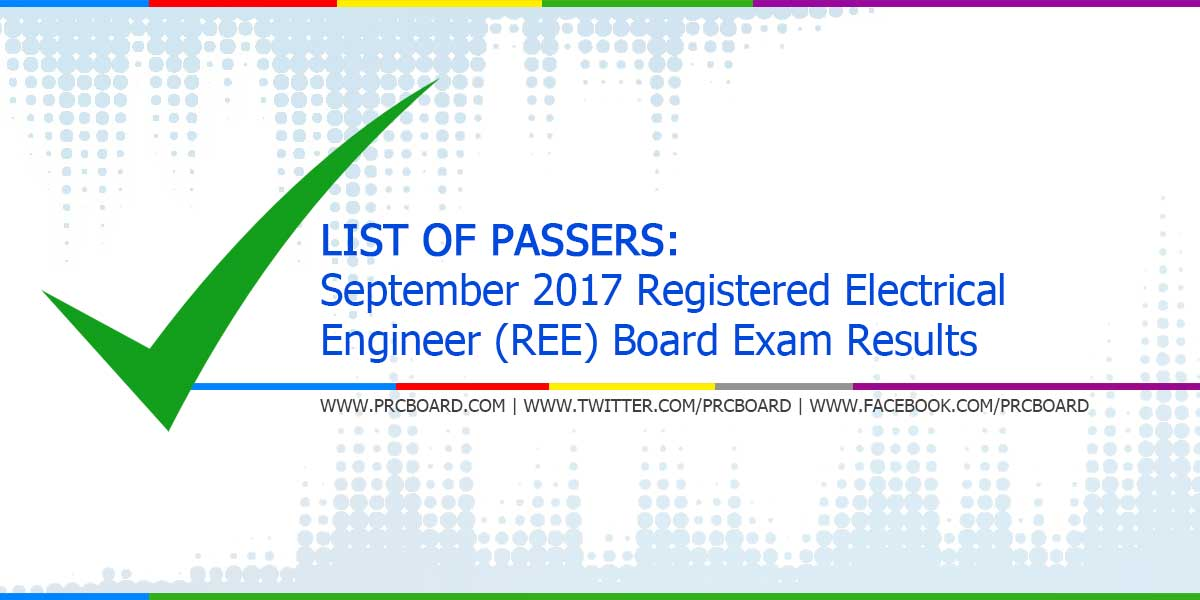 List Of Passers September 2017 Registered Electrical