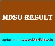 MDS University result