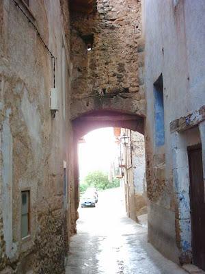 portal de Carrau, desde la calle llana, interior