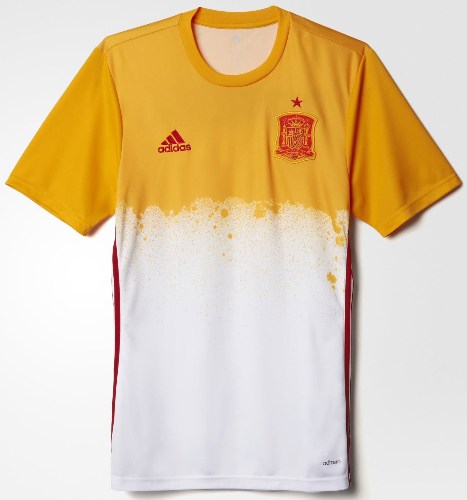 Spain euro 2016 pre match jerseys revealed footy headlines for Spain t shirt football