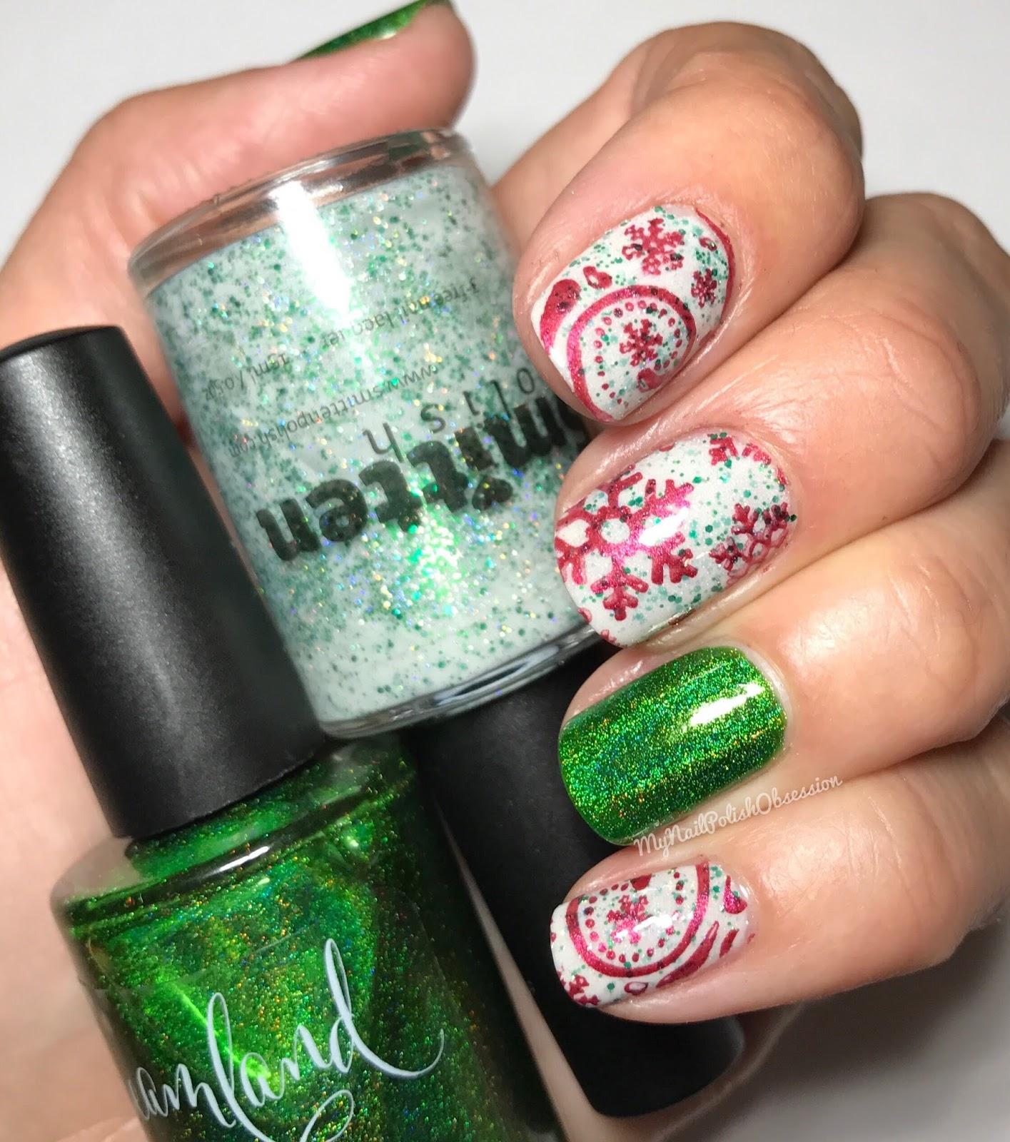 My Nail Polish Obsession: Christmas Eve Nail Art