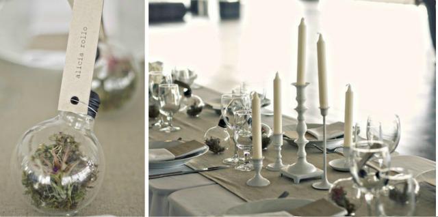 DIY terrario place card boda - Blog Mi Boda