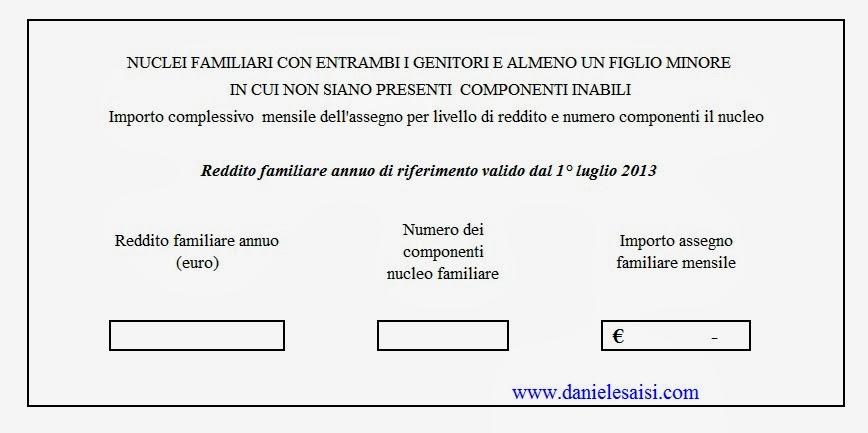 Daniele saisi blog programma excel per il calcolo degli assegni familiari - Programma per calcolo posa piastrelle ...