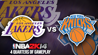 NBA 2K14 Knicks vs. Lakers Full Game - 4 Quarters of Gameplay