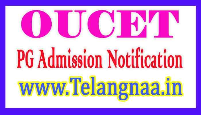 OUCET 2018 PG Admission Notification