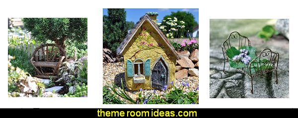 Miniature Fairy Garden furniture Miniature Fairy Garden decorating decor fairy themed gardens