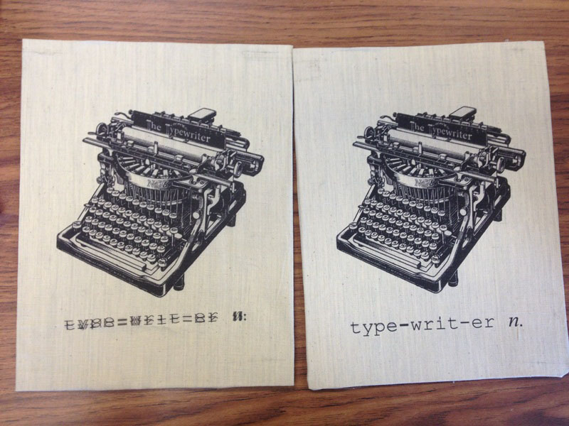 Christy Robbins: Vintage Typewriter Canvas Art