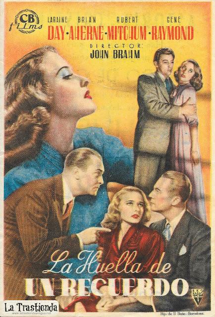 La Huella de un Recuerdo - Programa de Cine - Laraine Day - Robert Mitchum