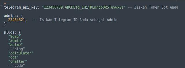Masih dalam topik yang sama ialah bot Telegram Kumpulan Bot Telegram (Beserta Kode Sumbernya)